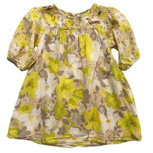 Vertbaudet Yellow Floral Tunic 6